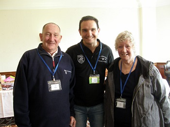 Marc Escudier (centre) with Ken and Fran Rogers.