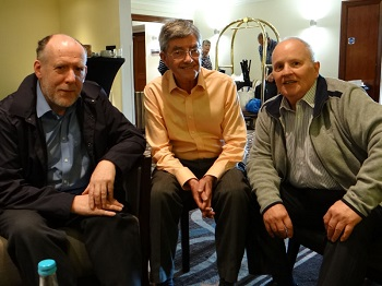 Philatelists Robin Taylor, Mike Faulds and Ron Burn.