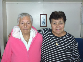 Isobel and her sister Joan.