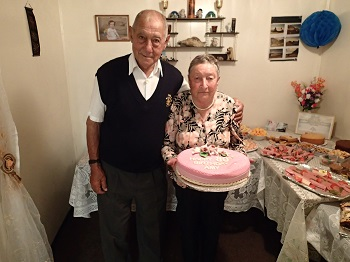 Harold and Amy Green on her 80th birthday.