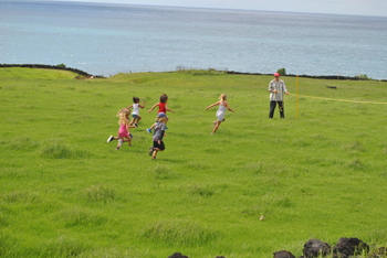 Playgroup running race