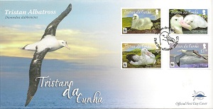 Tristan Albatross: Low Values Set: First day cover