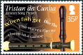 Tristan Song Project, 35p Recorder stamp