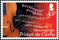 Tristan Song Project, 45p Violin stamp