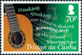 Tristan Song Project, 70p Guitar stamp