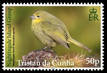Nightingale Finch, 50p stamp
