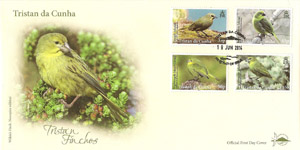 Finches: Low Values Set: First day cover