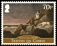 Augustus Earle, 70p 'Solitude, watching the horizon at sun set, in the hopes of seeing a vessel, Tristan de Acunha in the South Atlantic 1824'