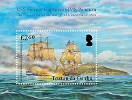 USS Hornet Captures HMS Penguin, £2.50 sheetlet