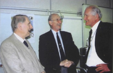 Peter Wheeler (right) in 2002 with Michael Swales and Sir Martin Holgate.