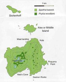 Tristan Da Cunha Vegetation - Tristan da cunha map