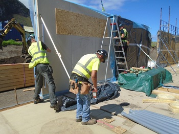 erecting wall panels