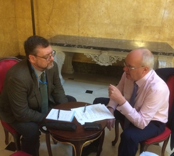 Catching up with Tristan's FCO Desk Officer Mark McGuiness.