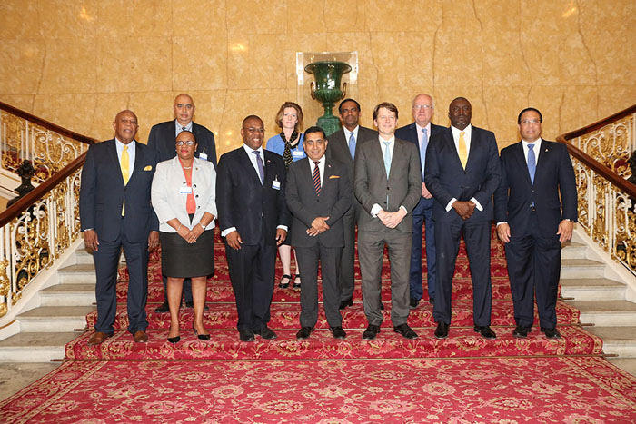 Heads of Delegation with Overseas Territories Minster Lord Ahmed and Brexit minister Robin Walker