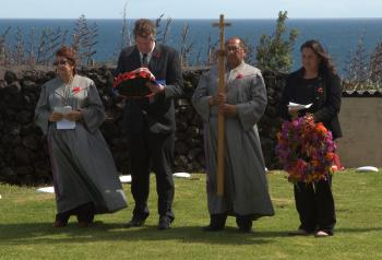 The wreath laying party