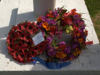 Remembrance Sunday - the Island wreaths