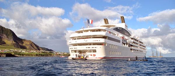 Recent Cruise Ship Visits to Tristan da Cunha: Le Lyrial returns to Tristan