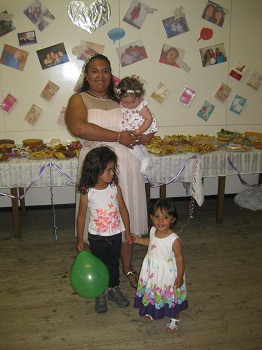 Linda Green with her godchildren