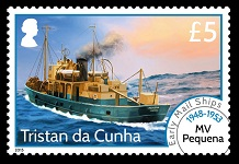 Early Mail Ships Definitives, £5.00 - 1948-1953 MV Pequena