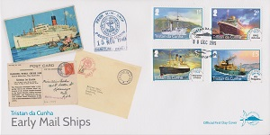 Early Mail Ships Definitives: First day cover