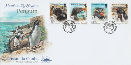 Northern Rockhopper Penguin, First Day Cover