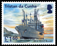 Visiting Royal Navy Ships, £1.60p, RFA Gold Rover