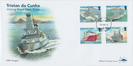 Visiting Royal Navy Ships: First day cover