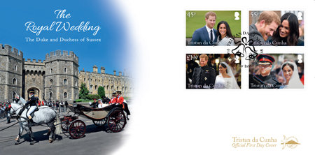 Royal Wedding: First day cover, set of stamps