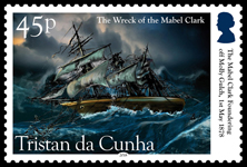 Wreck of the Mabel Clark, 1878, 45p, The Mabel Clark foundering off Molly Gulch
