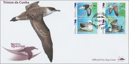 Tristan da Cunha Migratory Species: First day cover