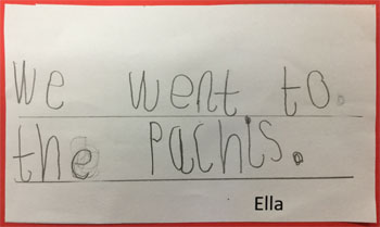 Ella's writing about the Patches trip