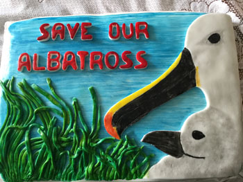'Save our Albatross' cake